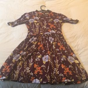 NWT f21 floral dress with cut out back.